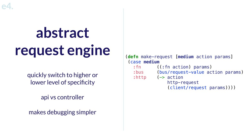 abstract request engine quickly switch to highe...