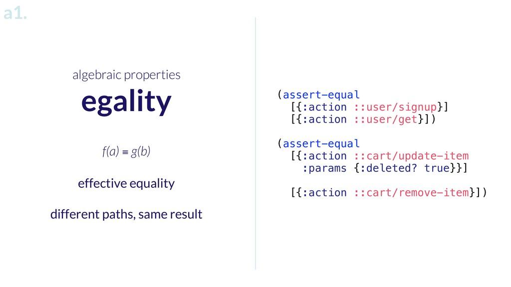 algebraic properties egality (assert-equal [{:a...