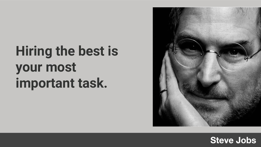 Hiring the best is your most important task.