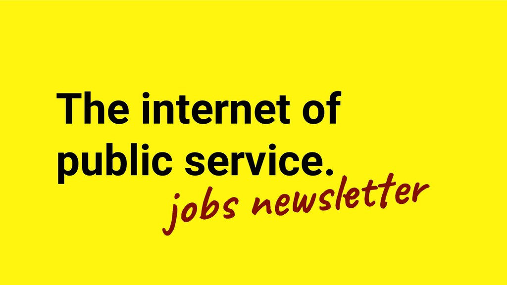 The internet of public service. jo n l er
