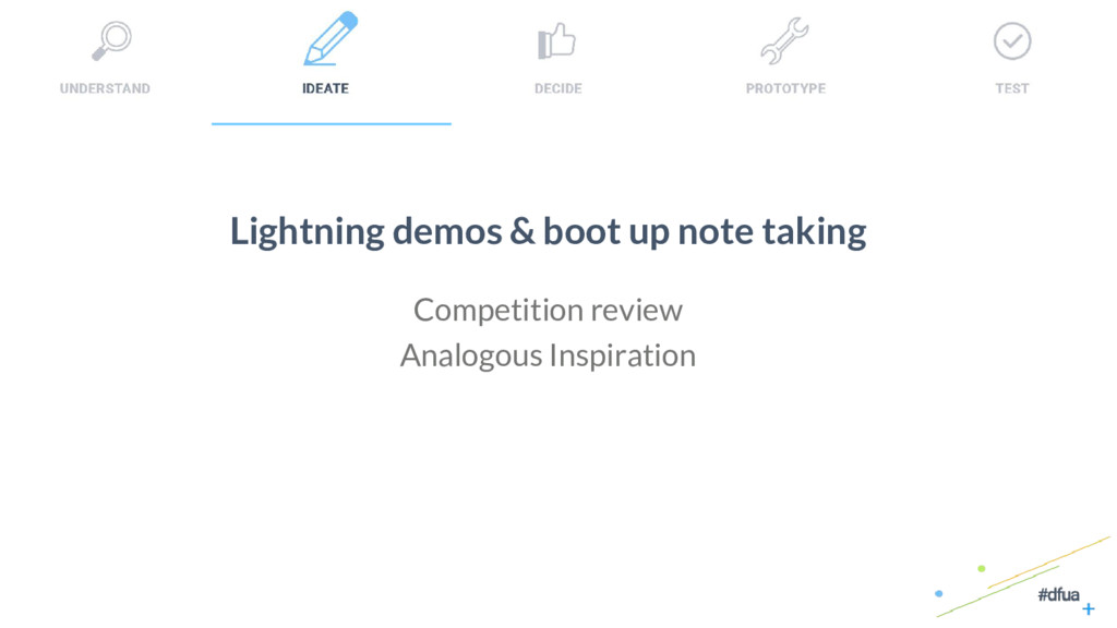 24 Lightning demos & boot up note taking Compet...