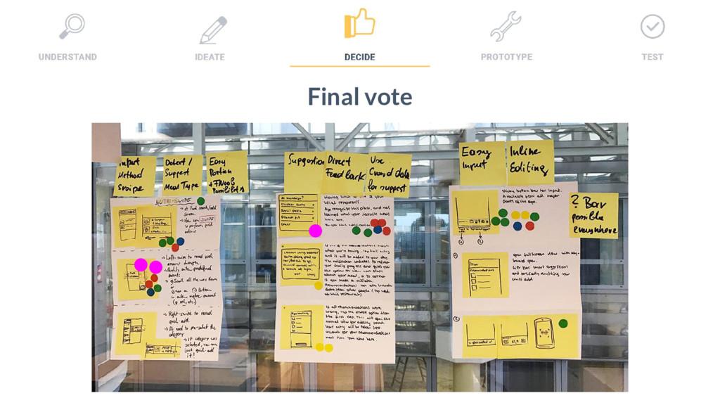 31 Final vote