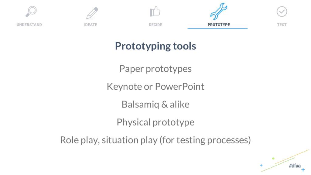 35 Prototyping tools Paper prototypes Keynote o...