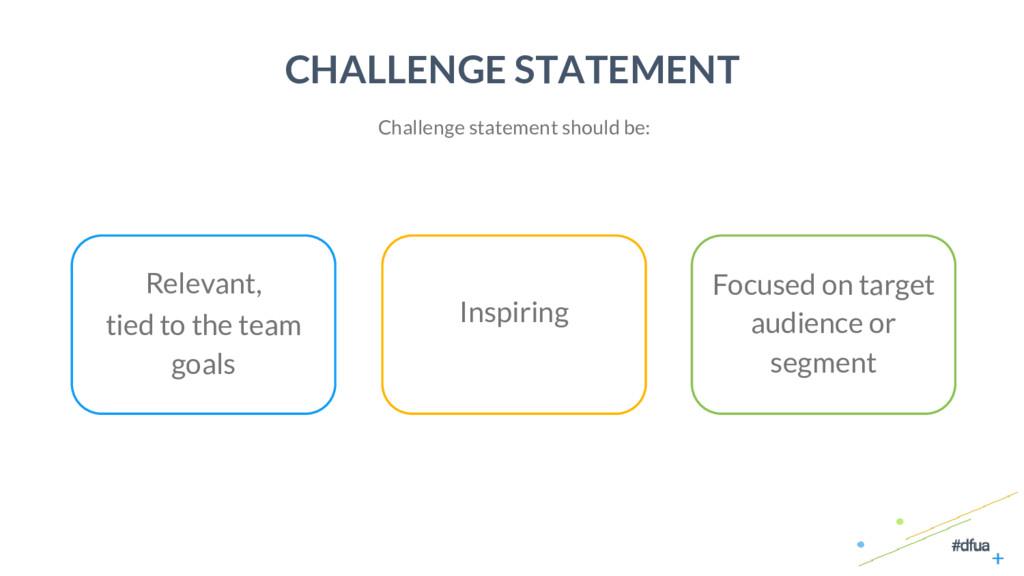 5 CHALLENGE STATEMENT Challenge statement shoul...