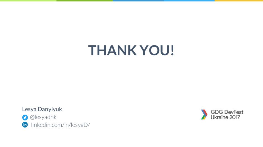 45 THANK YOU! Lesya Danylyuk @lesyadnk linkedin...