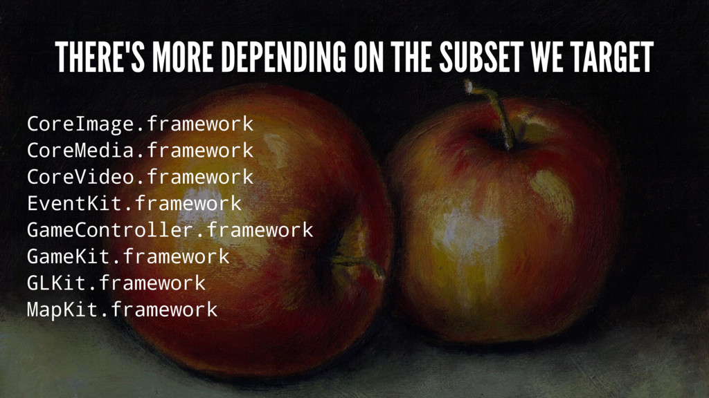 THERE'S MORE DEPENDING ON THE SUBSET WE TARGET ...