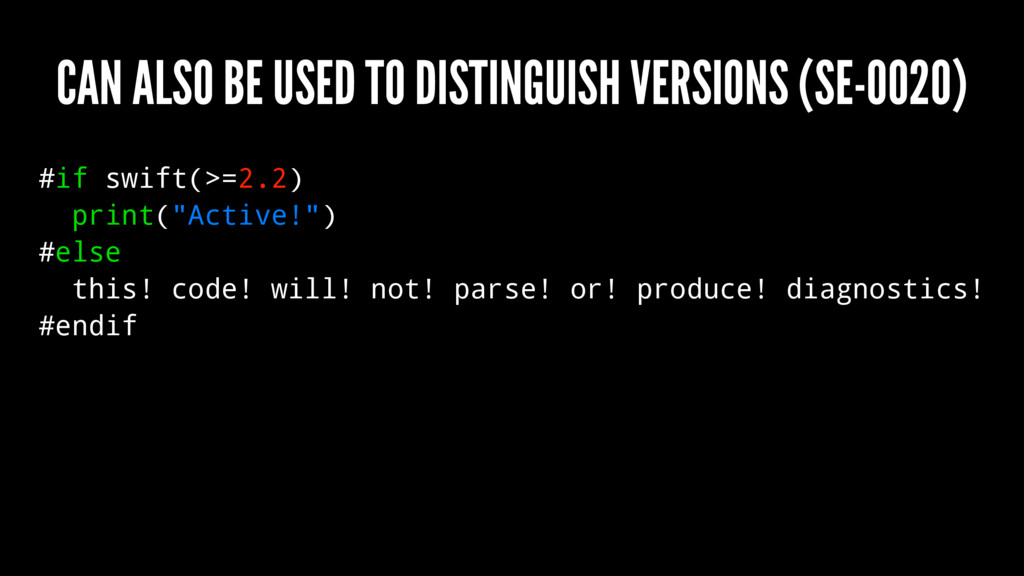 CAN ALSO BE USED TO DISTINGUISH VERSIONS (SE-00...