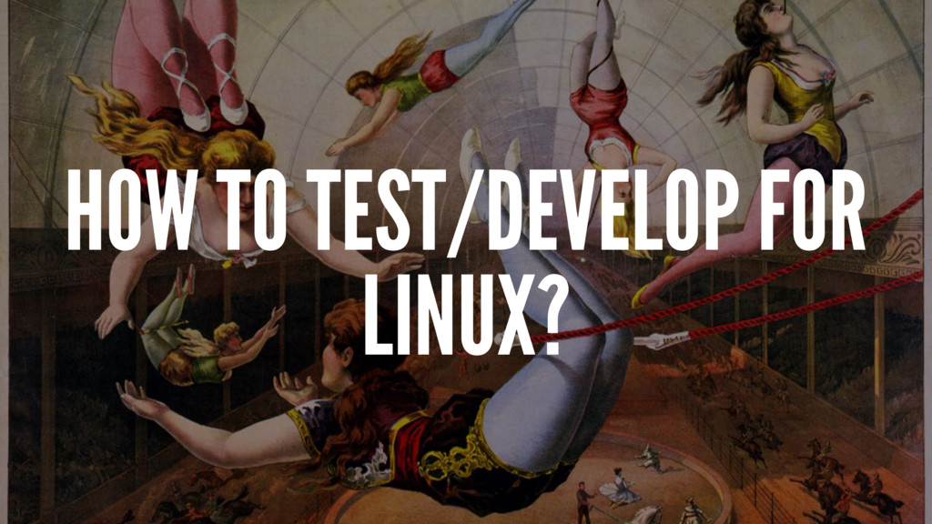 HOW TO TEST/DEVELOP FOR LINUX?