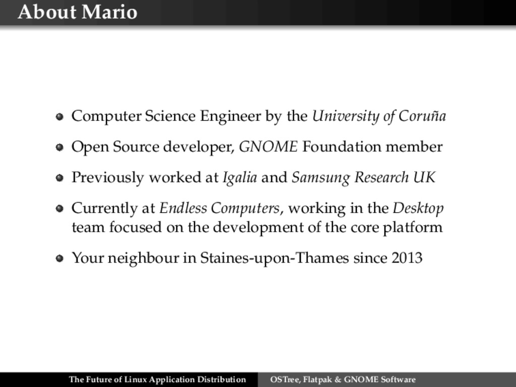 About Mario Computer Science Engineer by the Un...