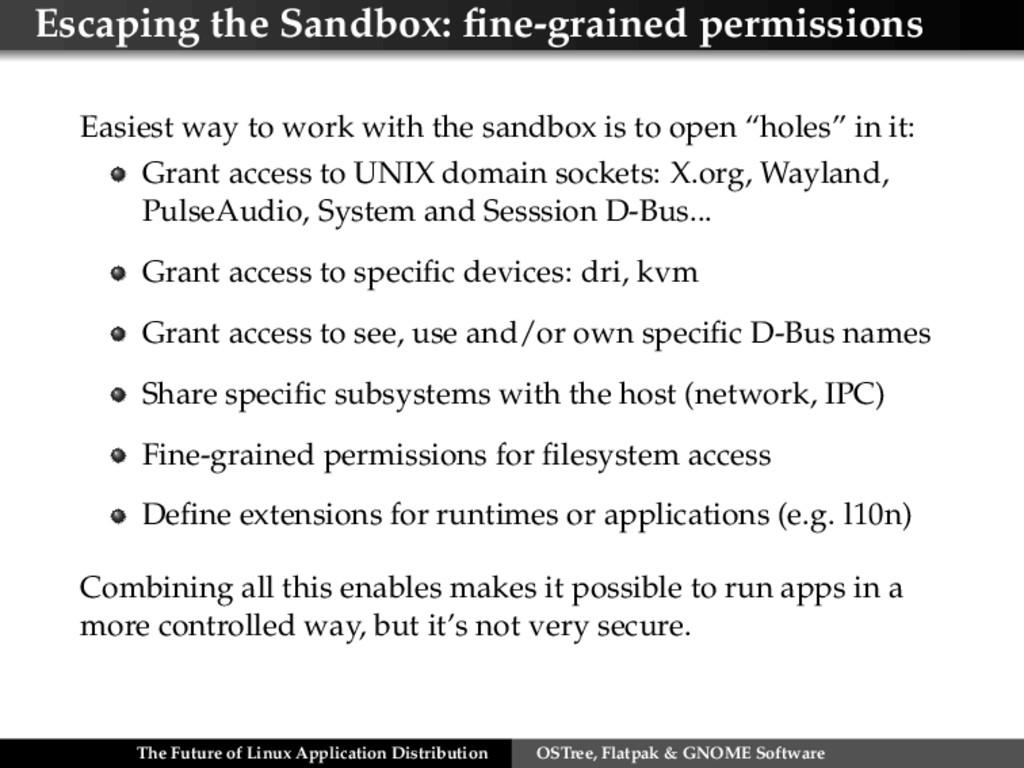 Escaping the Sandbox: fine-grained permissions E...