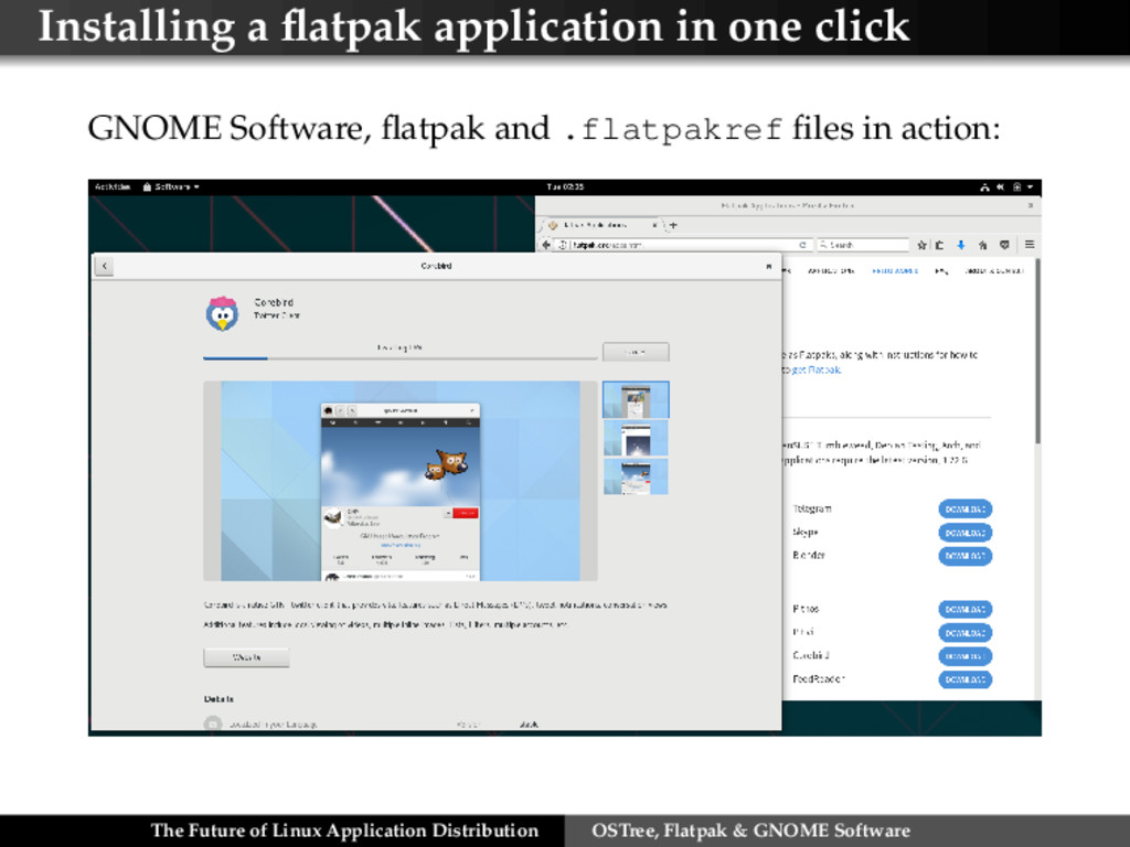 Installing a flatpak application in one click GN...