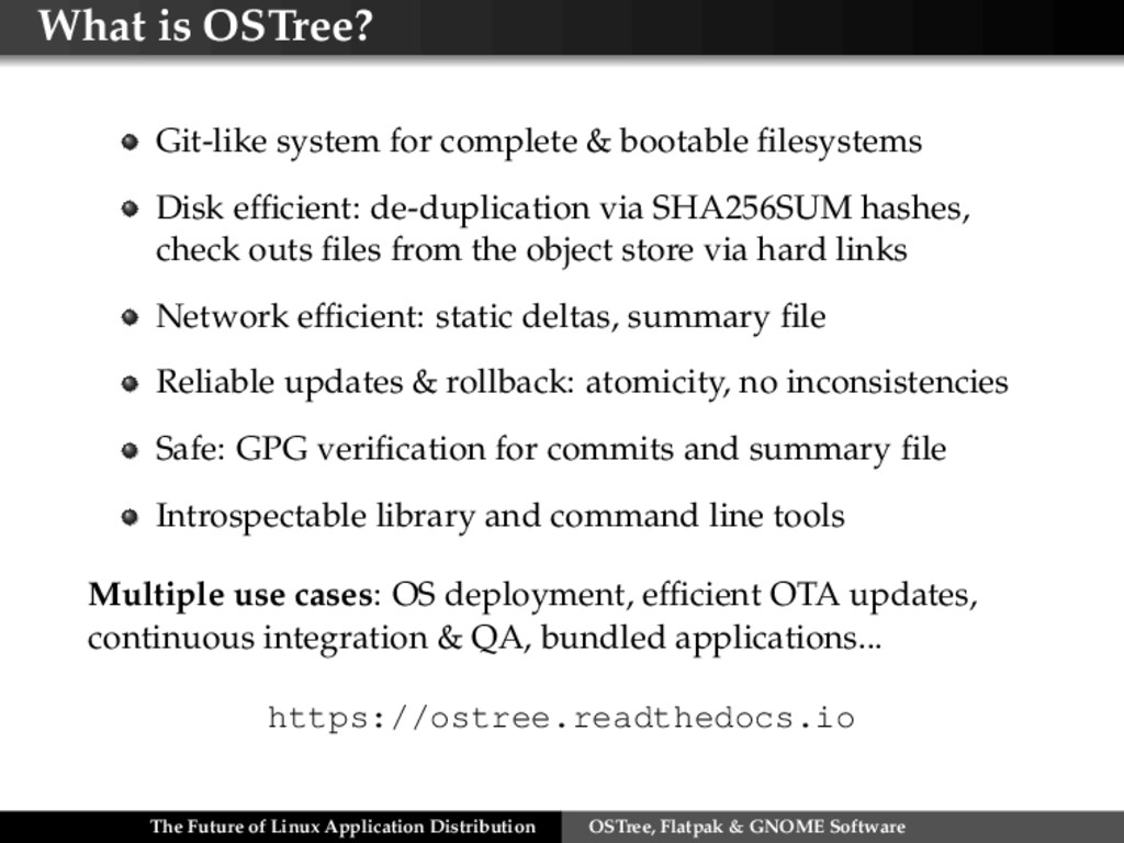 What is OSTree? Git-like system for complete & ...