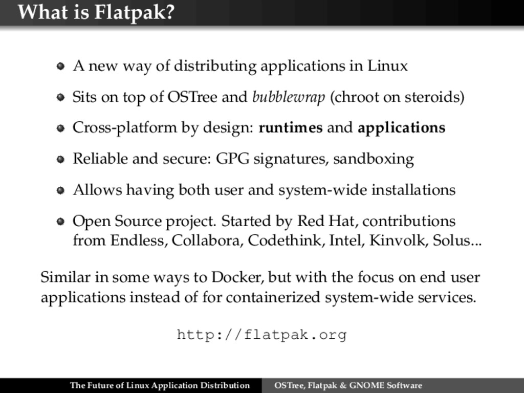 What is Flatpak? A new way of distributing appl...