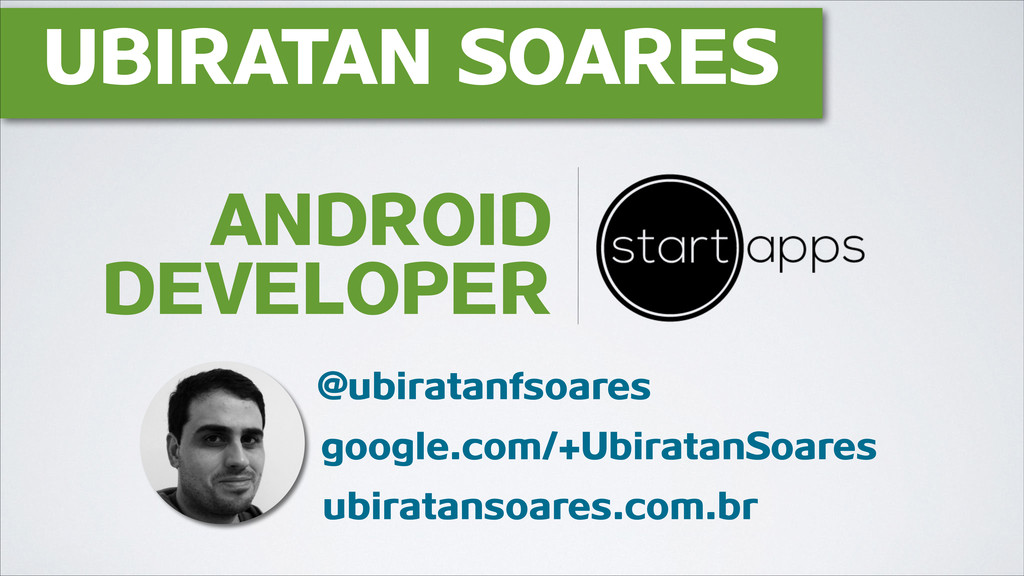 UBIRATAN SOARES @ubiratanfsoares google.com/+Ub...