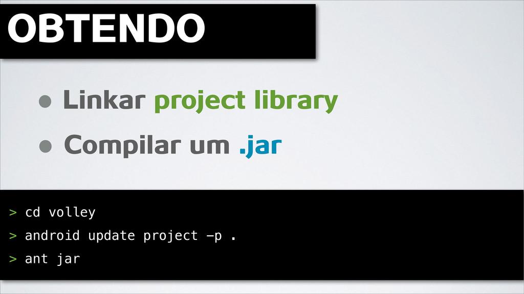 OBTENDO ! Linkar project library Compilar um .j...