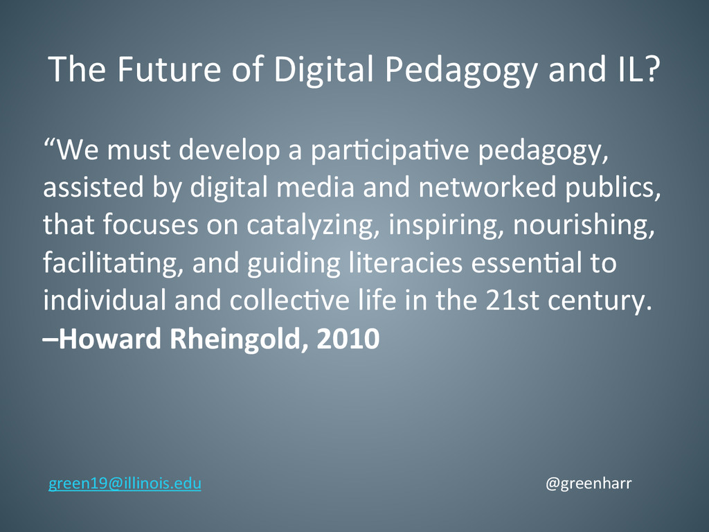 The Future of Digital Pedagogy a...