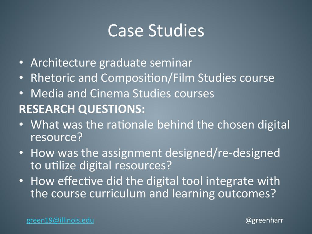 Case Studies  • Architecture graduate...