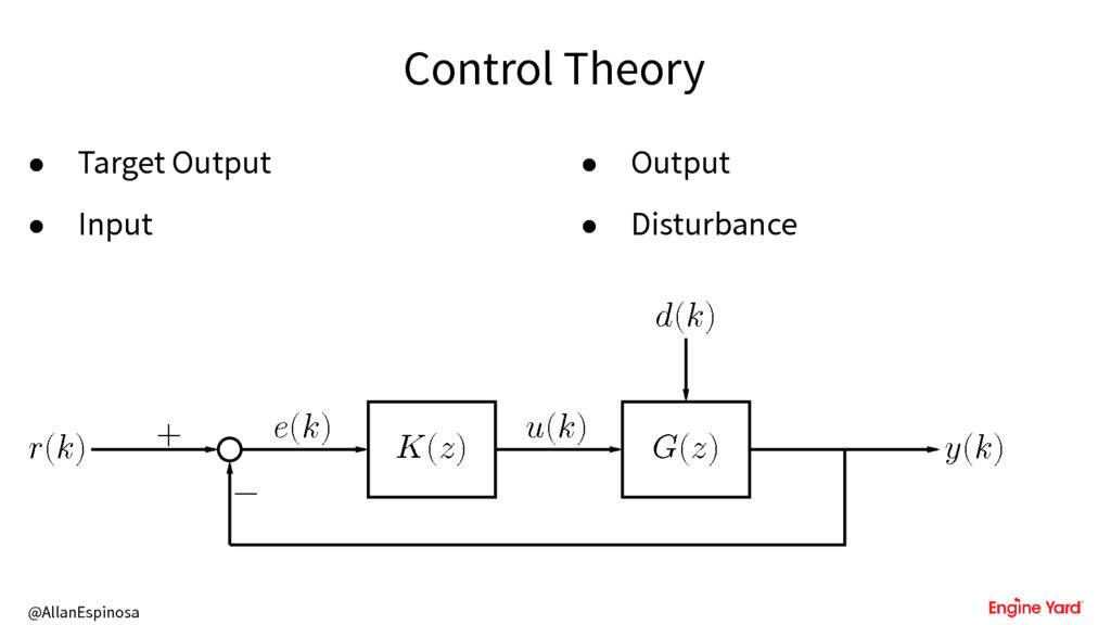 @AllanEspinosa Control Theory • Target Output •...