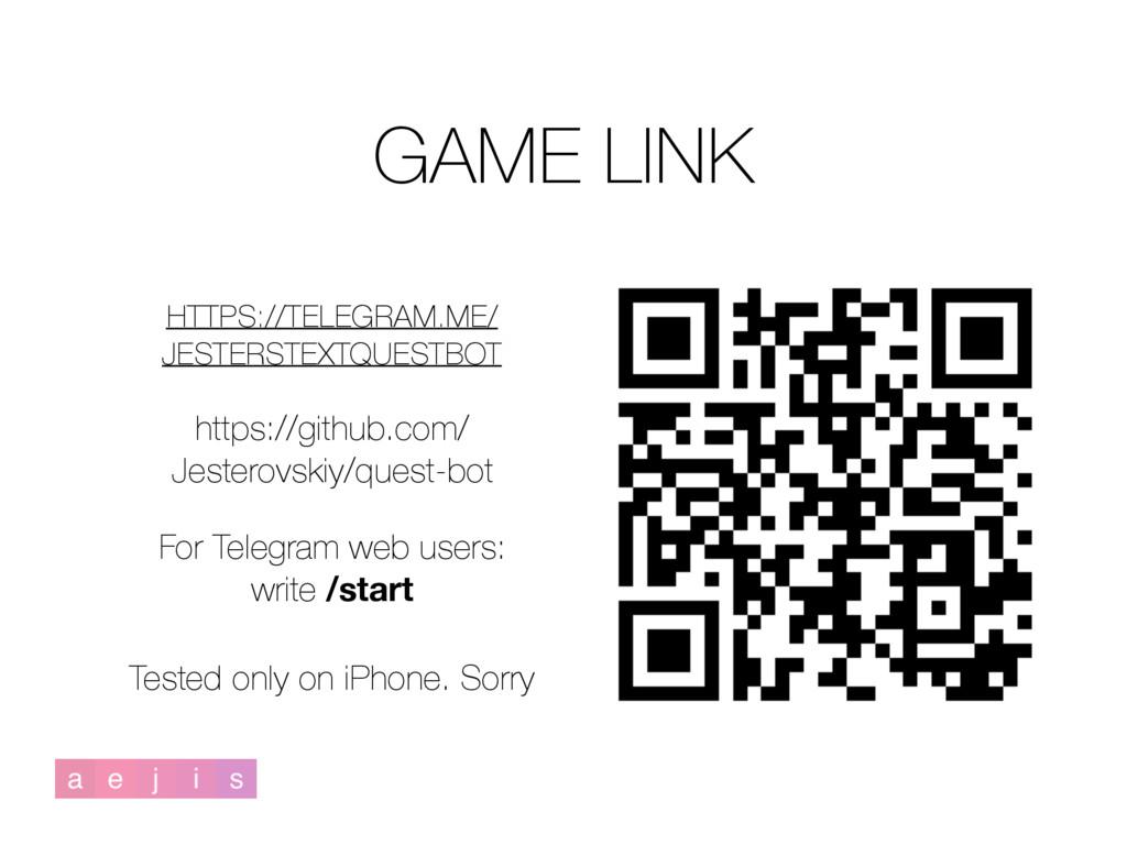 HTTPS://TELEGRAM.ME/ JESTERSTEXTQUESTBOT GAME L...