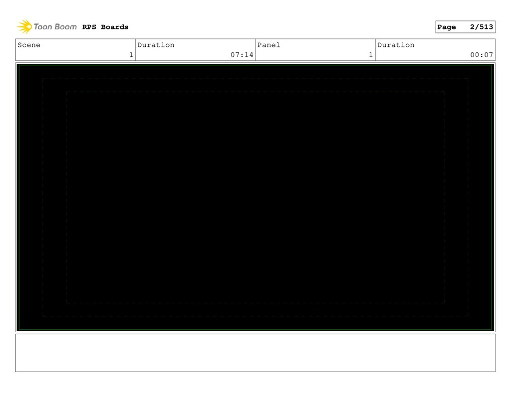 Scene 1 Duration 07:14 Panel 1 Duration 00:07 R...