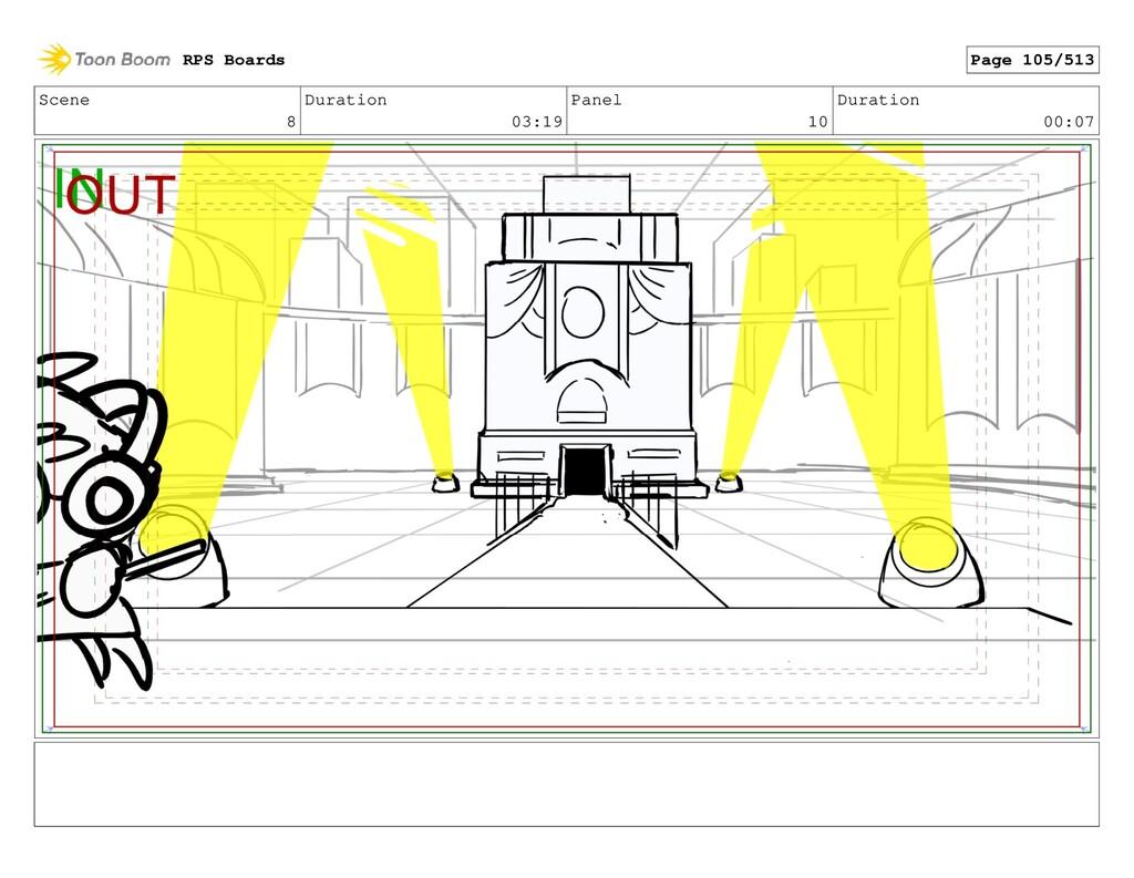Scene 8 Duration 03:19 Panel 10 Duration 00:07 ...