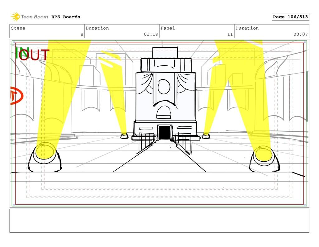 Scene 8 Duration 03:19 Panel 11 Duration 00:07 ...