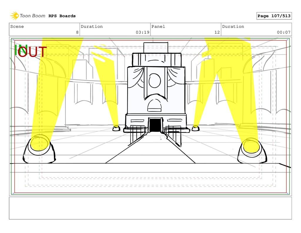 Scene 8 Duration 03:19 Panel 12 Duration 00:07 ...
