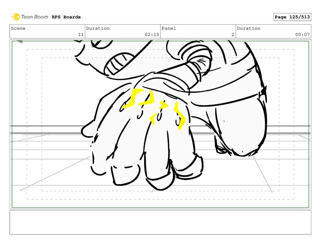 Scene 11 Duration 02:15 Panel 2 Duration 00:07 ...