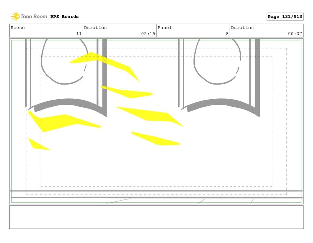 Scene 11 Duration 02:15 Panel 8 Duration 00:07 ...