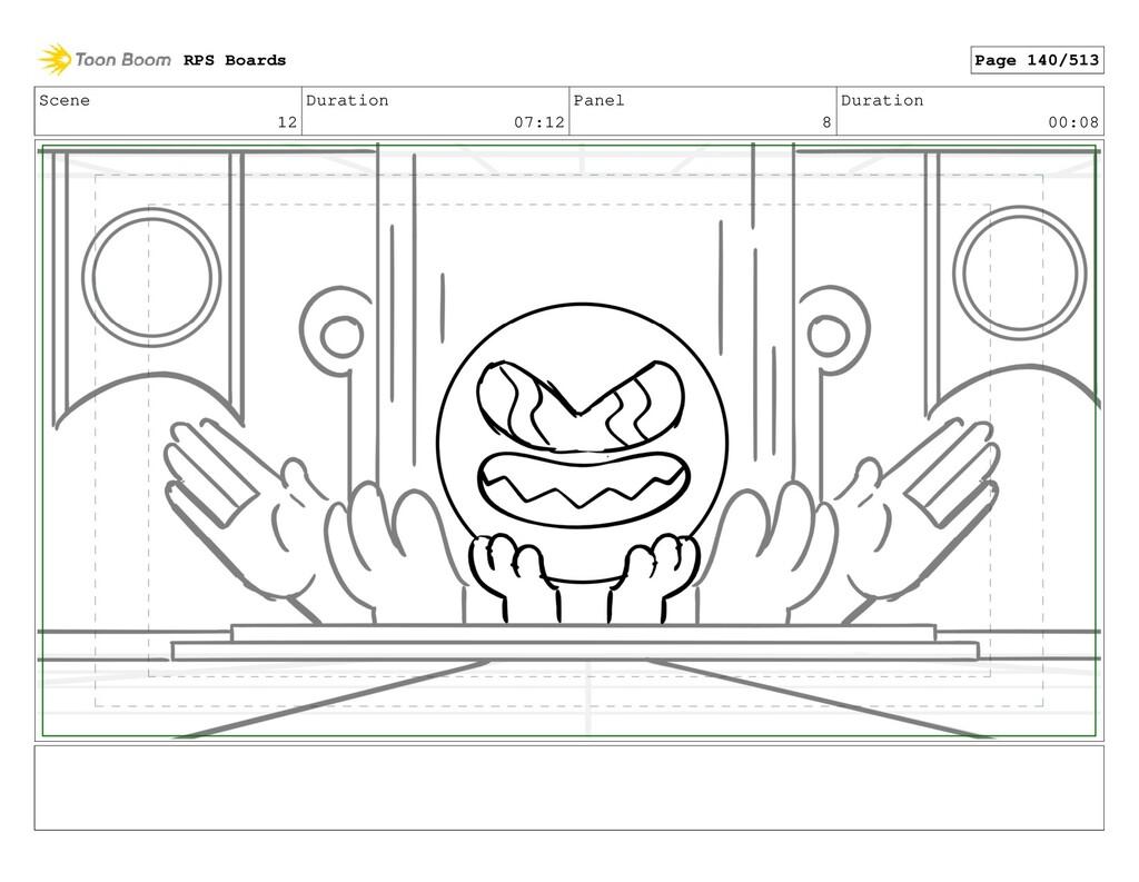 Scene 12 Duration 07:12 Panel 8 Duration 00:08 ...