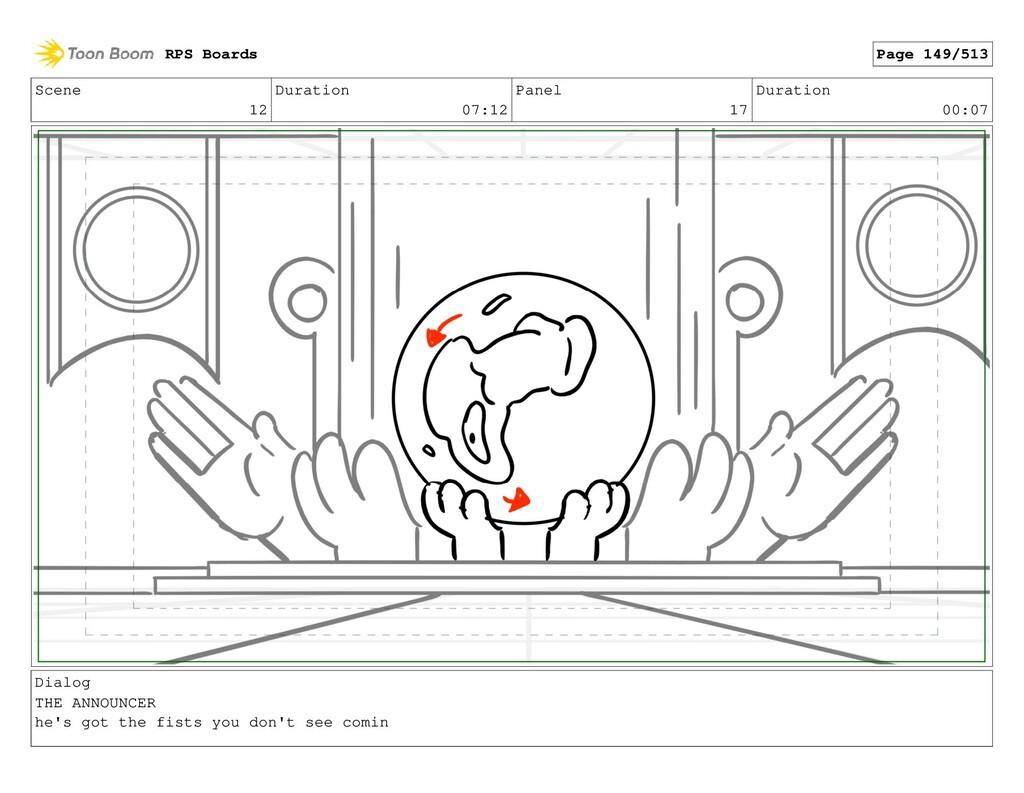 Scene 12 Duration 07:12 Panel 17 Duration 00:07...