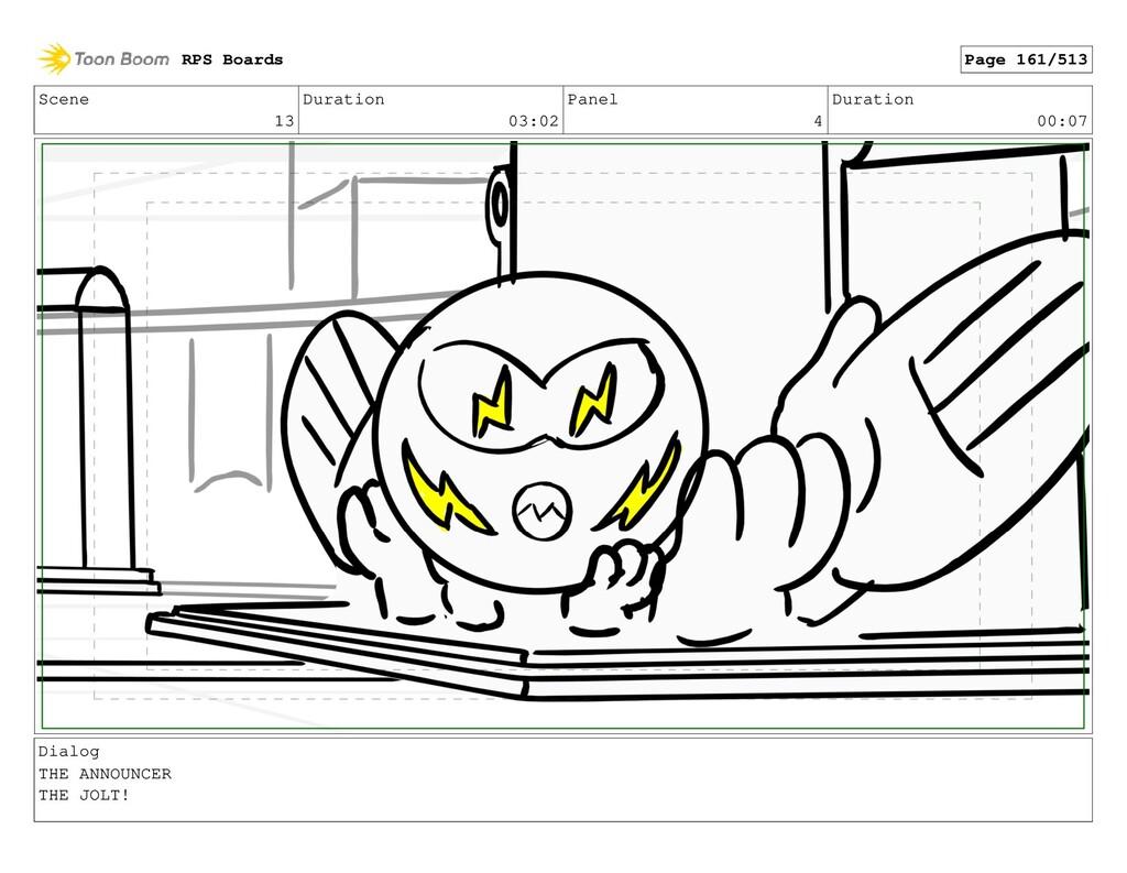 Scene 13 Duration 03:02 Panel 4 Duration 00:07 ...