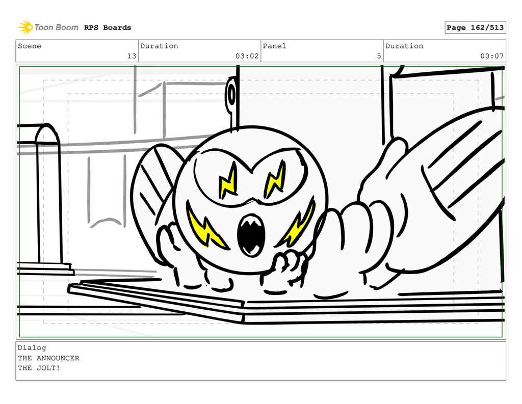 Scene 13 Duration 03:02 Panel 5 Duration 00:07 ...