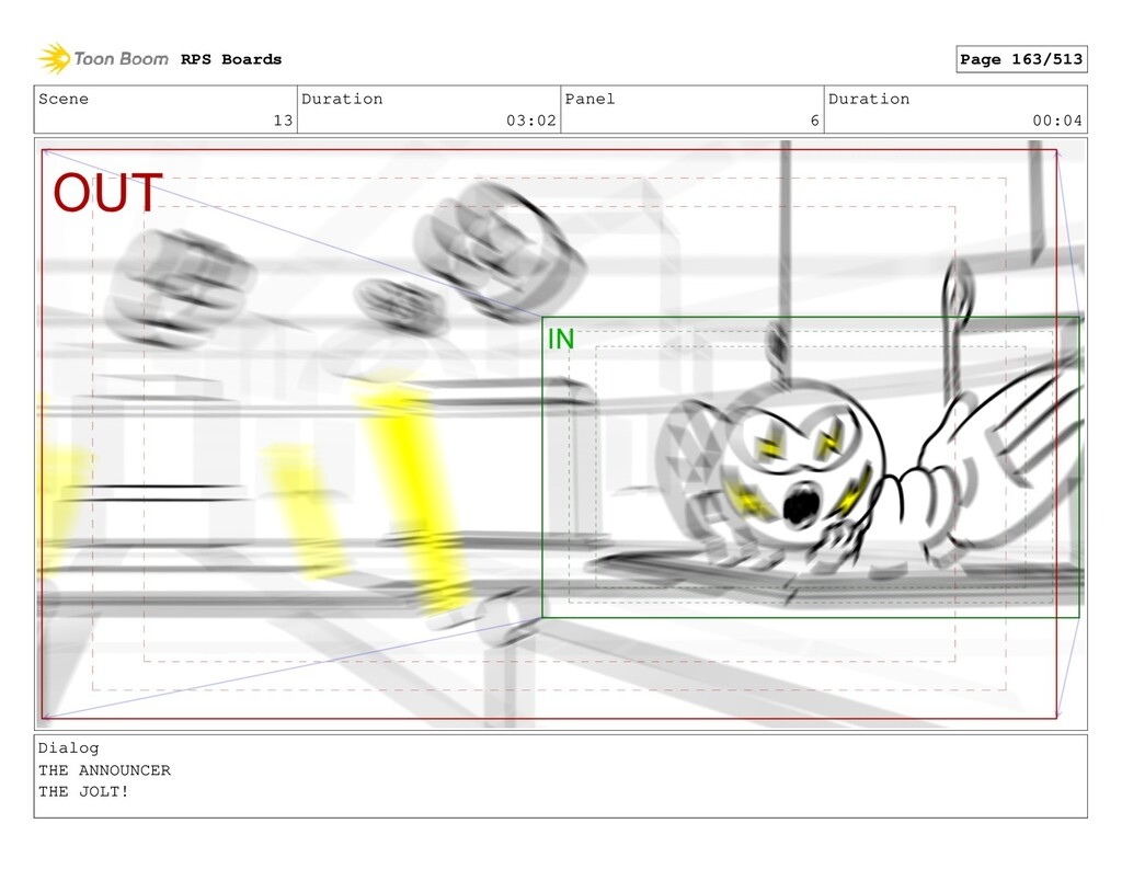 Scene 13 Duration 03:02 Panel 6 Duration 00:04 ...