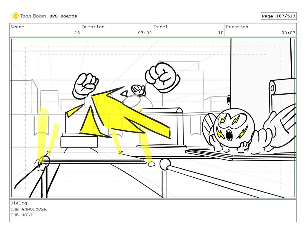 Scene 13 Duration 03:02 Panel 10 Duration 00:07...