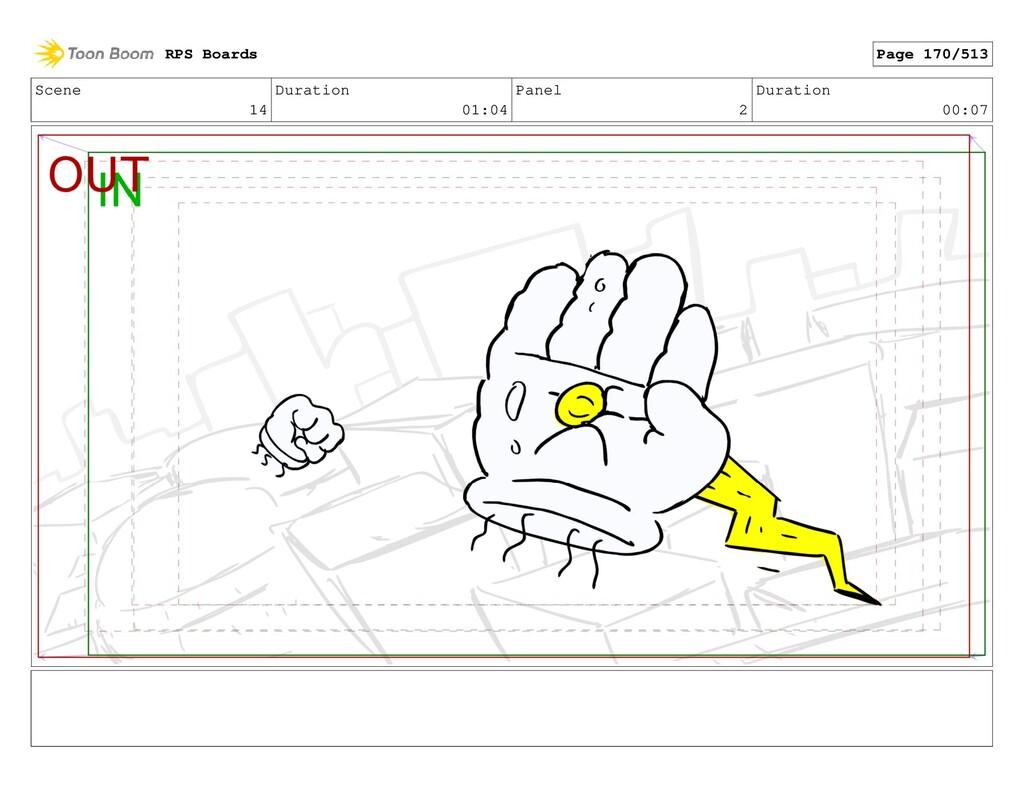 Scene 14 Duration 01:04 Panel 2 Duration 00:07 ...