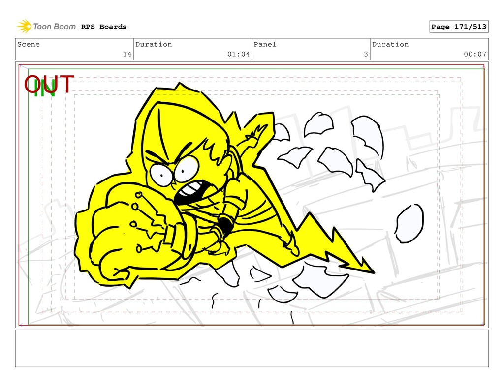 Scene 14 Duration 01:04 Panel 3 Duration 00:07 ...