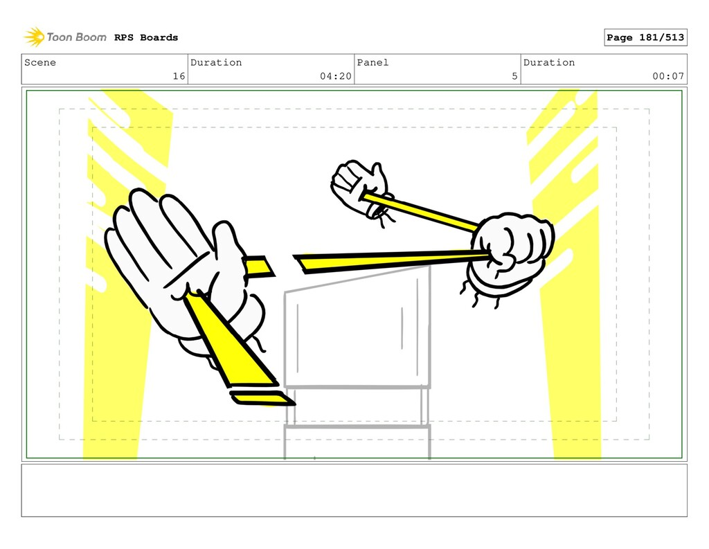 Scene 16 Duration 04:20 Panel 5 Duration 00:07 ...