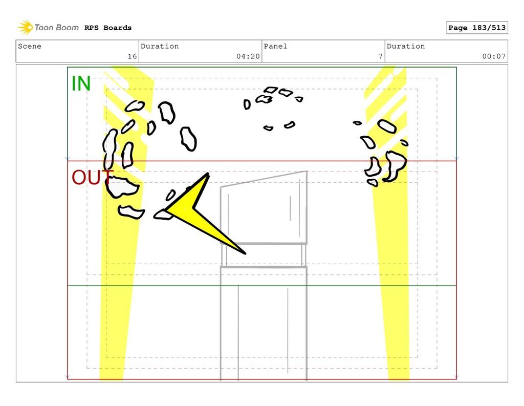 Scene 16 Duration 04:20 Panel 7 Duration 00:07 ...