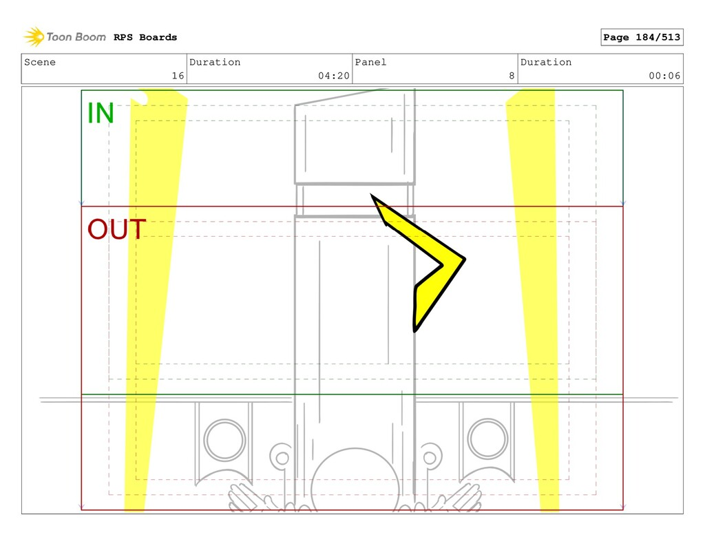 Scene 16 Duration 04:20 Panel 8 Duration 00:06 ...