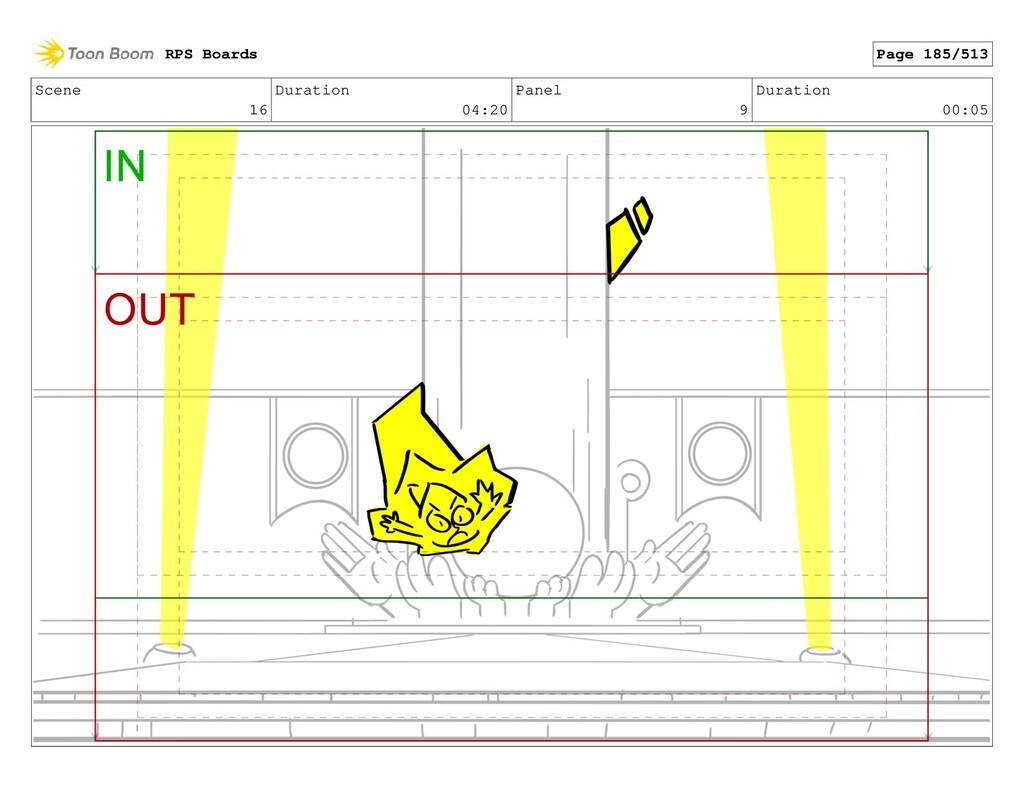 Scene 16 Duration 04:20 Panel 9 Duration 00:05 ...