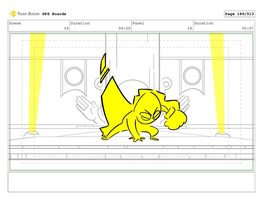 Scene 16 Duration 04:20 Panel 10 Duration 00:07...