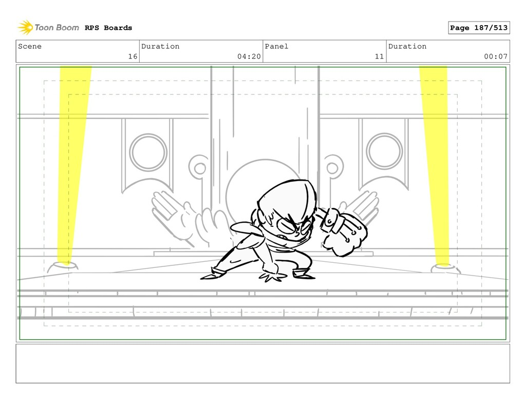 Scene 16 Duration 04:20 Panel 11 Duration 00:07...