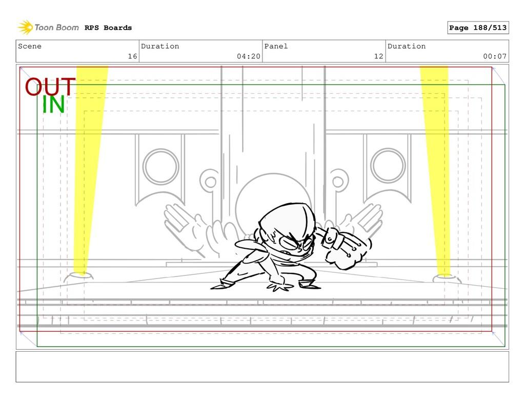 Scene 16 Duration 04:20 Panel 12 Duration 00:07...