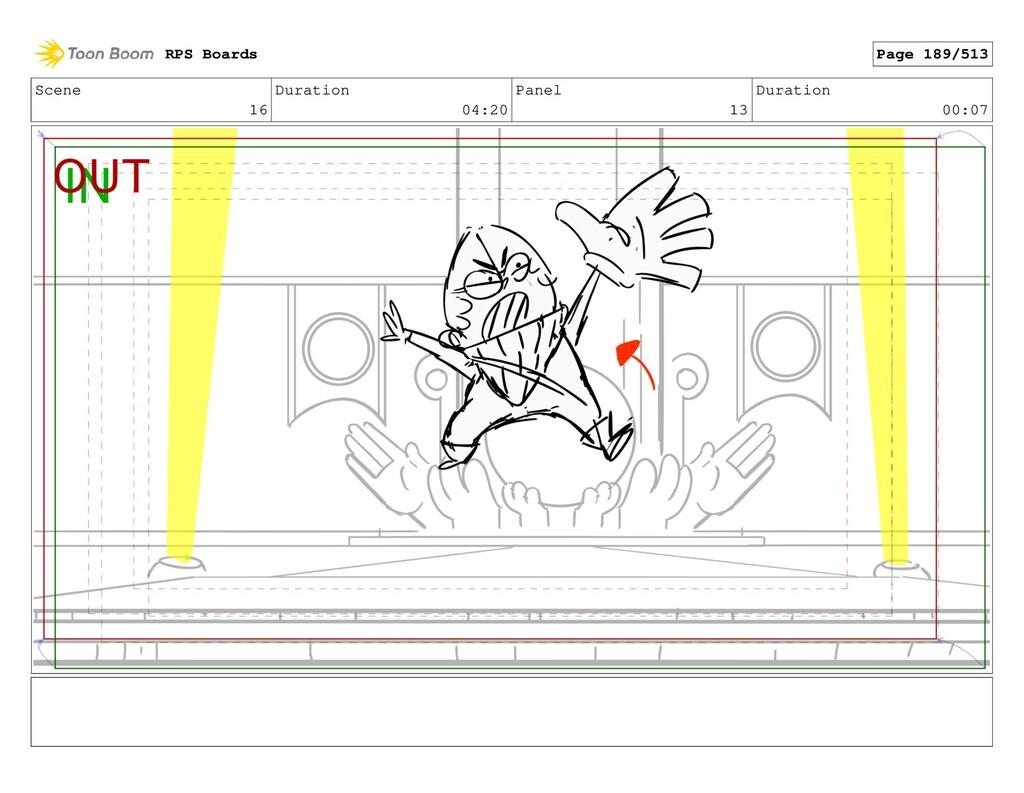 Scene 16 Duration 04:20 Panel 13 Duration 00:07...