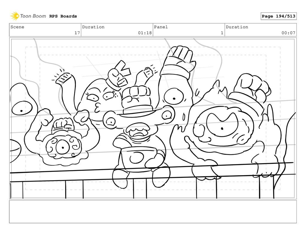Scene 17 Duration 01:18 Panel 1 Duration 00:07 ...