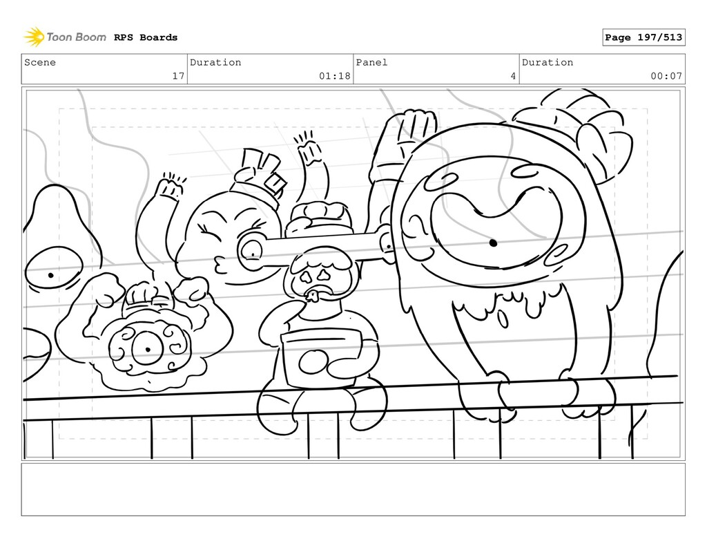 Scene 17 Duration 01:18 Panel 4 Duration 00:07 ...