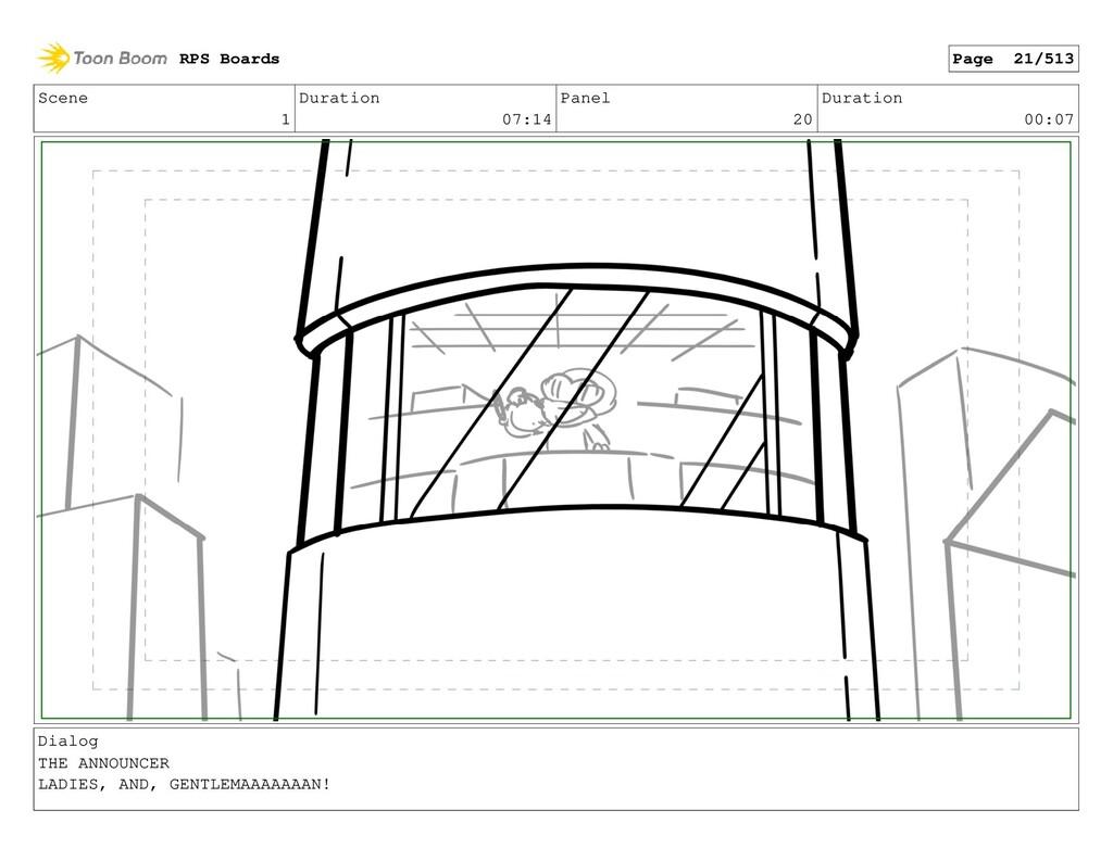 Scene 1 Duration 07:14 Panel 20 Duration 00:07 ...