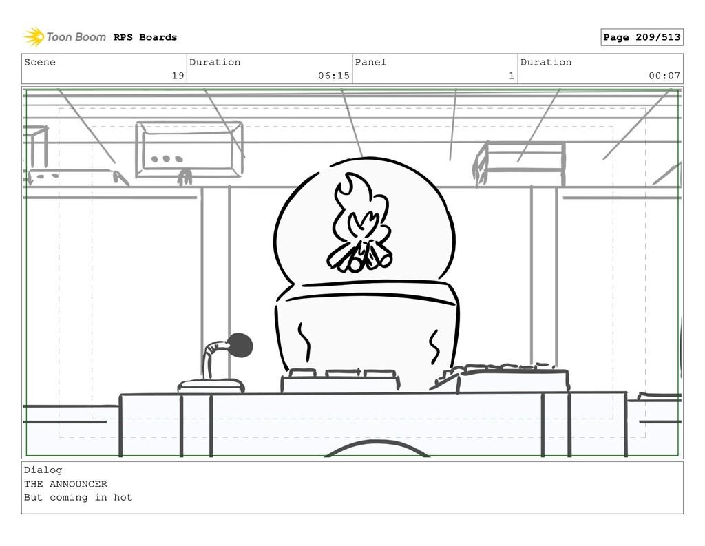 Scene 19 Duration 06:15 Panel 1 Duration 00:07 ...