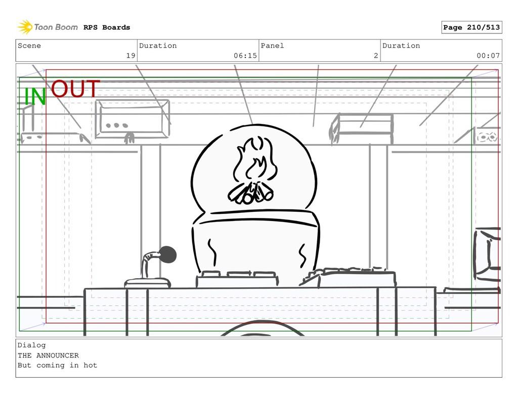 Scene 19 Duration 06:15 Panel 2 Duration 00:07 ...
